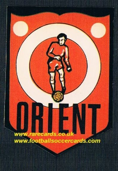 1972 BAB Orient unused PVC sticker with backing paper